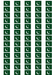 Pakistan Flag Stickers - 65 per sheet